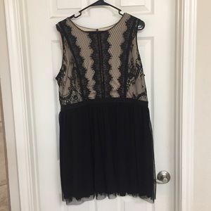 Twirly tulle babydoll dress